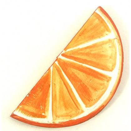 Μαγνητάκι πορτοκάλι ζωγραφιστό