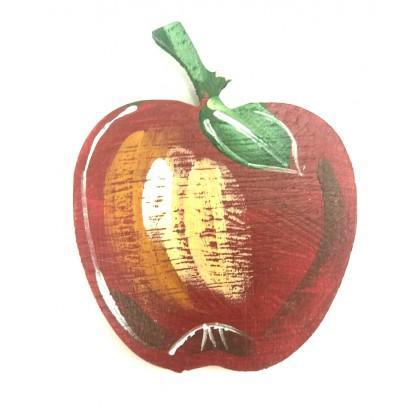 Μαγνητάκι μήλο ζωγραφιστό