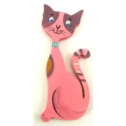 Μαγνητάκι γάτα ζωγραφιστή