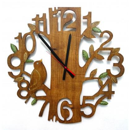 Ρολόι τοίχου δέντρο ζωγραφιστό