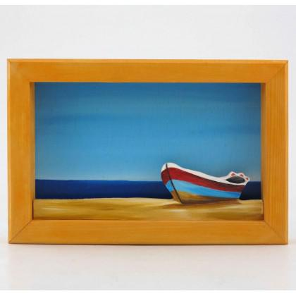 Πίνακας Ζωγραφιστός Βάρκα στην Ακτή