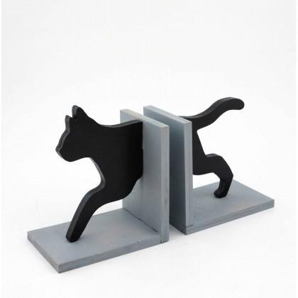 Βιβλιοστάτης Ξύλινος Γάτα.
