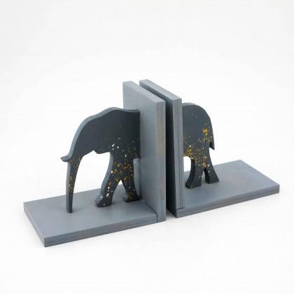 Βιβλιοστάτης Ξύλινος Ελέφαντας.