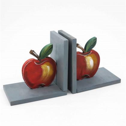 Βιβλιοστάτης Ξύλινος Μήλο.