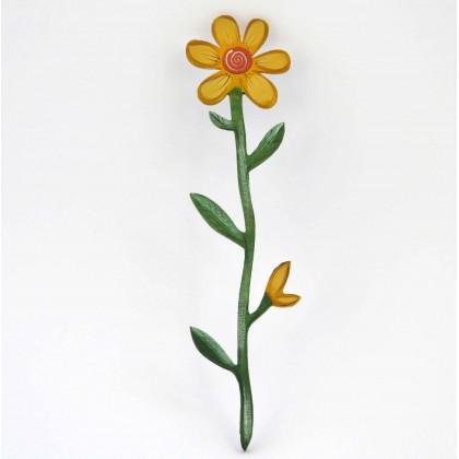 Λουλούδι Ξύλινο Ζωγραφιστό Μαργαρίτα.