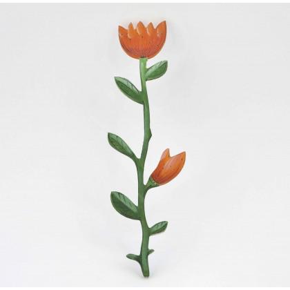 Λουλούδι Ξύλινο Ζωγραφιστό Ανεμώνη.