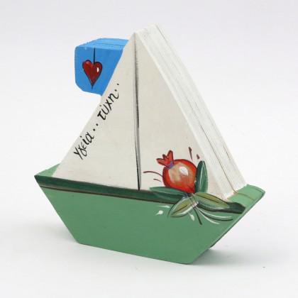 Κουτί ζωγραφιστό καράβι.