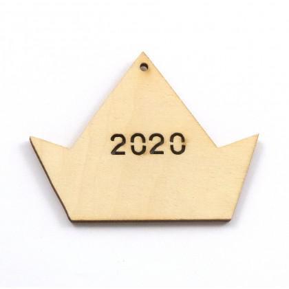 Στολίδι Καράβι Μίνι 2020 διάτρητο.