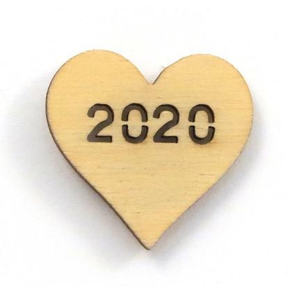 Στολίδι Καρδιά Μίνι 2020 διάτρητο.