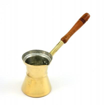 Μπρίκι Μπρούντζινο Νο 5 με ξύλινη λαβή.