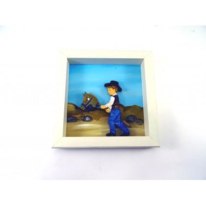 Πίνακας αγόρι αλογάκι