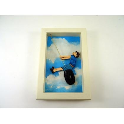 Πίνακας αγόρι σαμπρέλα