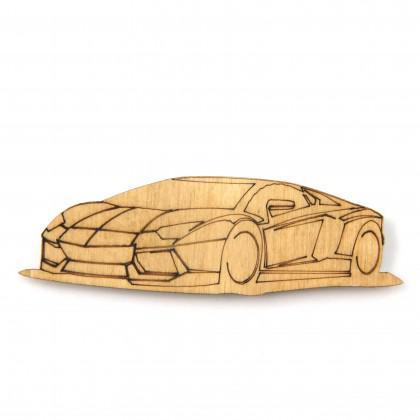 Στοιχείο Lamborghini με χάραξη.