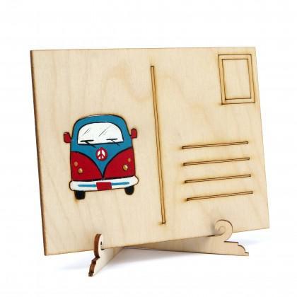 Καρτ Ποστάλ Volkswagen ζωγραφισμένη.