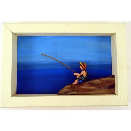 Πίνακας Ψάρεμα στην Λίμνη Πουρναρίου
