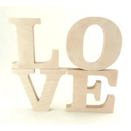 LOVE Ξύλινα γράμματα
