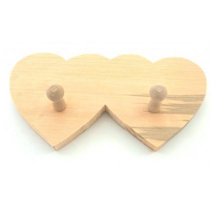 Κρεμάστρα με 2 καρδιές