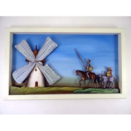 Πίνακας Δον Κιχώτης μεγάλος με φώς